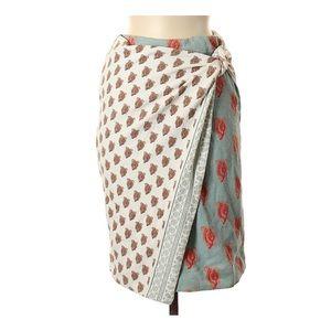 Anthropologie Maeve Hankerchief Wrap Skirt size 6